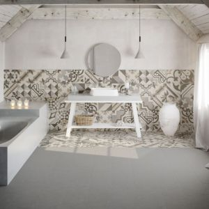 Nowoczesne płytki do łazienki. Kolekcja Dogana. Fot. Argenta