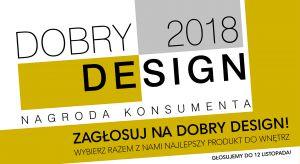 Rozpoczęło się już wielkie głosowanie w konkursie Dobry Design organizowanym przez magazyn Dobrze Mieszkaj. Chcesz zostać naszym jurorem i wytypować najlepszy Twoim zdaniem produkt do wnętrz? Weź udział w głosowaniu internautów!