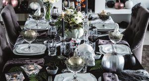 Głównym symbolem Halloween jest niewątpliwie dynia. Nie oznacza to jednak, że dekoracja naszego stołu musi być zdominowana przez kolor pomarańczowy. Jak stworzyć elegancką,a jednocześnie zaskakującą aranżację w stylu glamour?