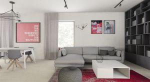 Dom jednorodzinny 160m2 w Pruszkowie. Zaprojektowany dla rodziny 2+1, urządzony w nowoczesnej stylistyce. Bazowymi kolorami są tu: biel, szarość, czerń oraz jasne drewno.