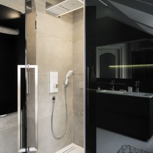 Elegancki salon kąpielowy. Projekt: Eliza Polakiewicz. Fot. Marcin Mentel