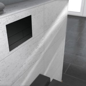 Minimalistyczna łazienka: płaskie powierzchnie. Fot. Tece