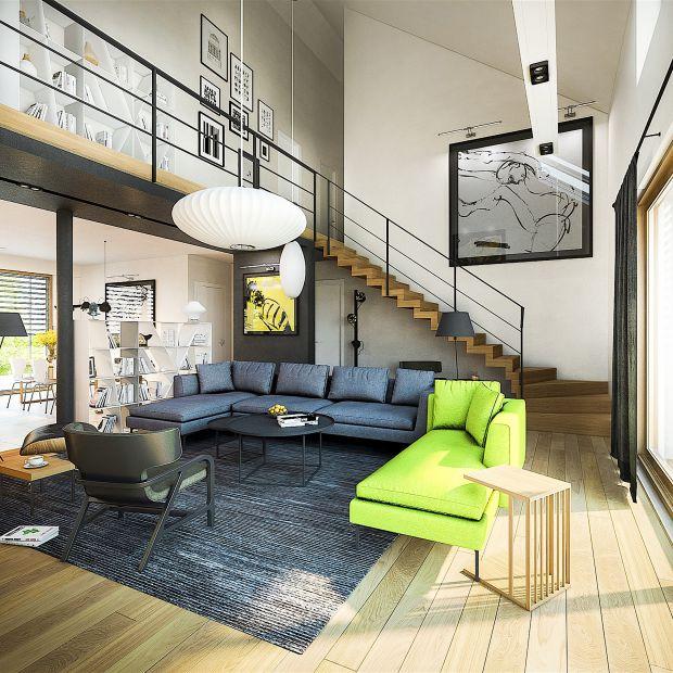 Dom z poddaszem - idealny dla wielbicieli nowoczesnego minimalizmu