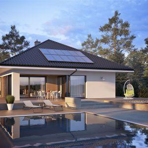 Dużym atutem domu jest możliwość adaptacji poddasza w późniejszym etapie budowy. Projekt: arch. Artur Wójciak. Fot. Pracownia Projektowa Archipelag