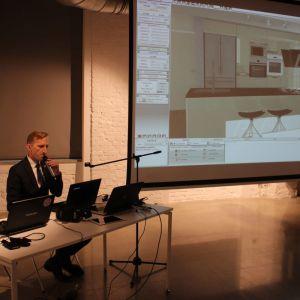 Studio Dobrych Rozwiązań w Poznaniu - wykład CAD Projekt. Fot. Mariusz Golak