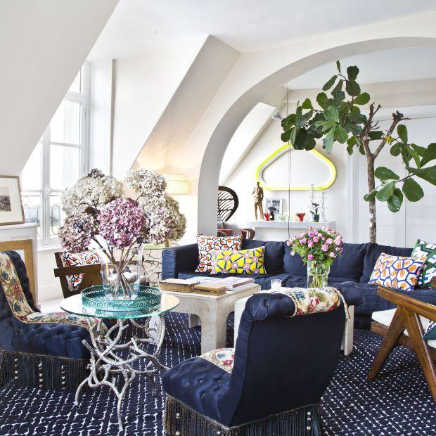 Eleganckie wnętrze - zobacz piękne mieszkanie w Paryżu