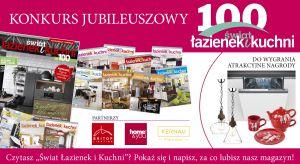 """Lubisz czytać magazyn """"Świat Łazienek i Kuchni""""? Weź udział w naszym konkursie i wygraj atrakcyjne nagrody."""