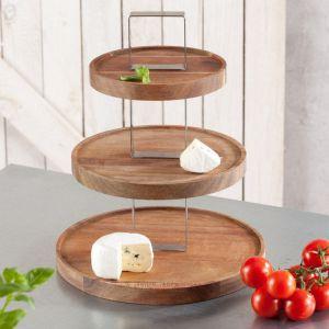 Wyposażenie do kuchni - patera drewniana S&P z serii Fromage. Fot. Dekoria.pl
