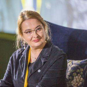 Magdalena Gruna, Vectorworks. V Forum Dobrego Designu. Sesja: Pokolenie nomadów – jak projektować dla dzieci mobilnej kultury. Fot. Piotr Waniorek.