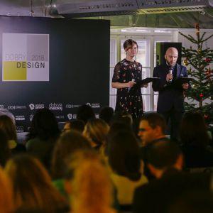 Małgorzata Burzec-Lewandowska i Robert Posytek przywitali gości V Forum Dobrego Designu. Fot. Piotr Waniorek.