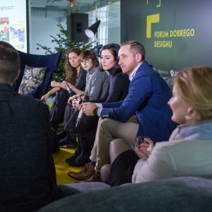 V Forum Dobrego Designu. Sesja: Ewolucja wzornictwa. Czy ogranicza nas tylko wyobraźnia? Fot. Piotr Waniorek.