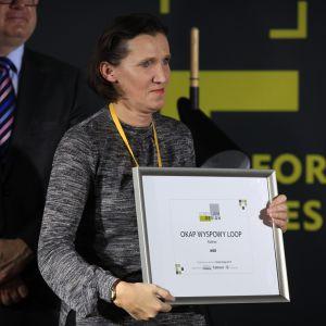 Wyróżnienie w kategorii AGD zdobył okap wyspowy Loop firmy Falmec. Dyplom odebrała przedstawicielka firmy, Iwona Osowska.