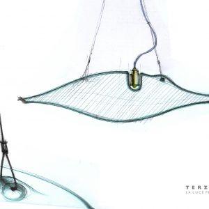 Szkice projektu lampy Manta. Rys. materiały prasowe marki Terzani