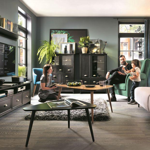 Salon w stylu modern vintage - 10 pięknych propozycji