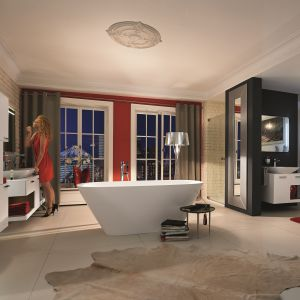 Nastrojowa łazienka: seria wyposażenie Vigour White. Fot. Vigour / Elements