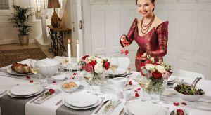 Serwis z białej porcelany zdobiony złotem i platyną został stworzony z okazji 100-lecia Niepodległości Polski.
