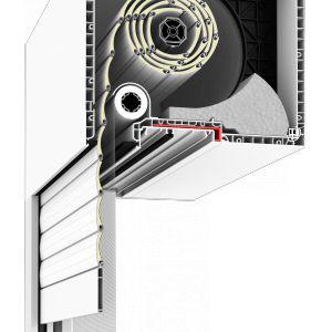 System umożliwia zabudowę od wewnątrz i z zewnątrz, dzięki czemu widoczna staje się tylko prowadnica, aluminiowy pancerz i dolna pokrywa rewizyjna, co stanowi wyraz nowoczesnego budownictwa. Fot. Drutex