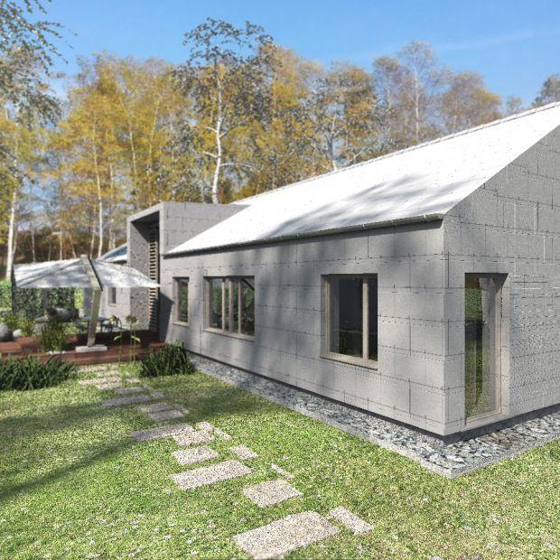 Dom stodoła: zobacz projekt na wąską działkę