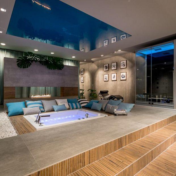 Salon kąpielowy w piwnicy - zobacz piękny projekt