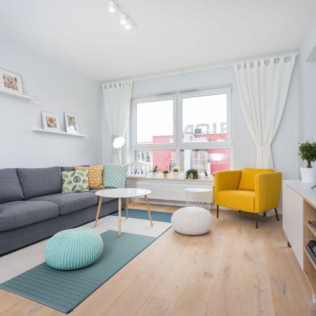 Mieszkanie dla dwojga w pastelowych barwach