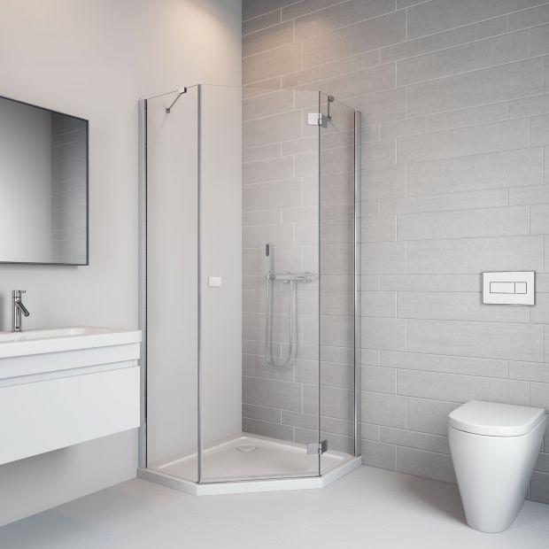 Kabina do małej łazienki: zobacz pięciokątną nowość