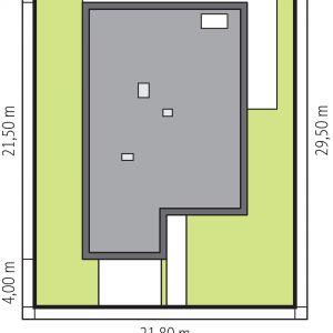 Usytuowanie domu na działce. Projekt: Artur Wójciak. Fot. Pracownia Projektowa Archipelag