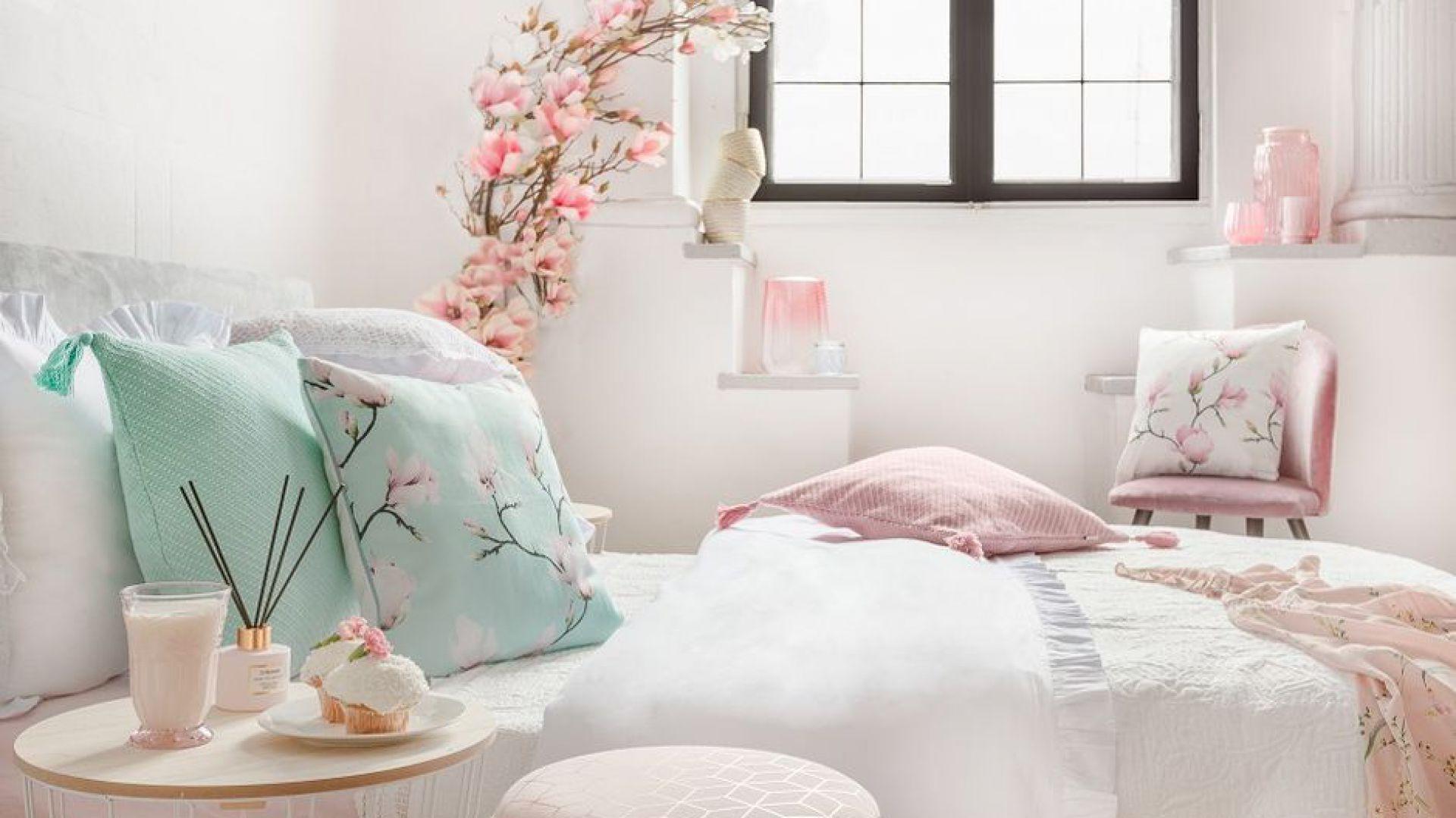 Kolekcja tekstyliów Magnolia Romantic. Fot. Homla