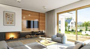"""Dom parterowy o wdzięcznej nazwie """"Doskonały"""" to projekt idealny dla rodziny z dziećmi lub osób starszych ceniących komfort życia na jednej kondygnacji. Powierzchnia blisko 140 mkw pozwoli na komfortowe urządzenie się."""