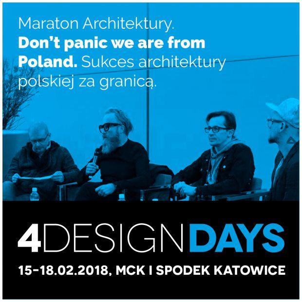 Dni Otwarte 4 Design Days - bliskie spotkania z architekturą i designem