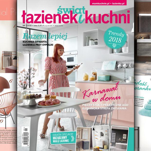 Świat Łazienek i Kuchni (1/2018) - nowy numer już w sprzedaży