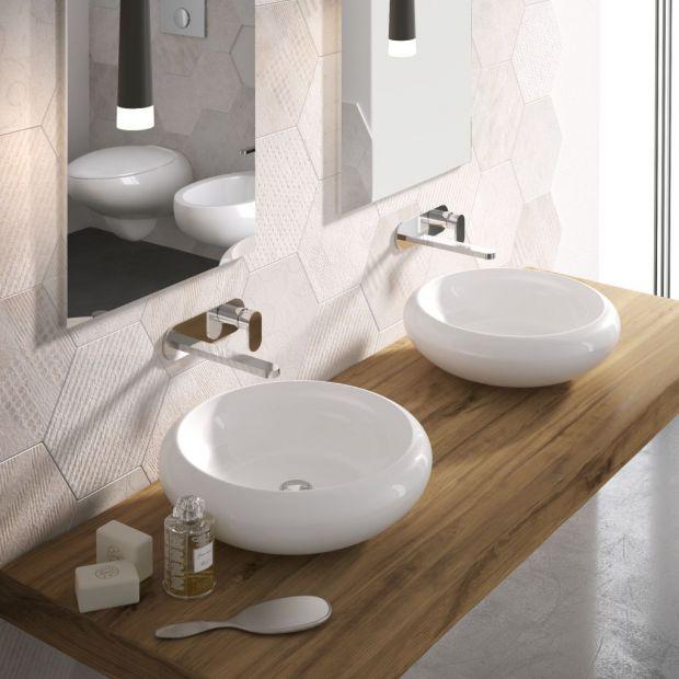 Nablatowe umywalki: 12 pięknych modeli