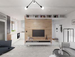 Strefa dzienna - salon. Fot. Artur Jóźwik / INVENTIVE Studio