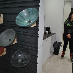 Ceramika łazienkowa - najnowsze trendy prosto z targów Cevisama 2018, które odbyły się w dn. 5-9 lutego w hiszpańskiej Walencji. Fot. Katarzyna Masłowska