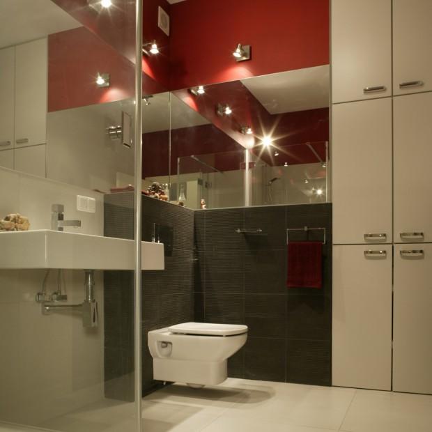 Nowoczesna łazienka w geometrycznym wydaniu