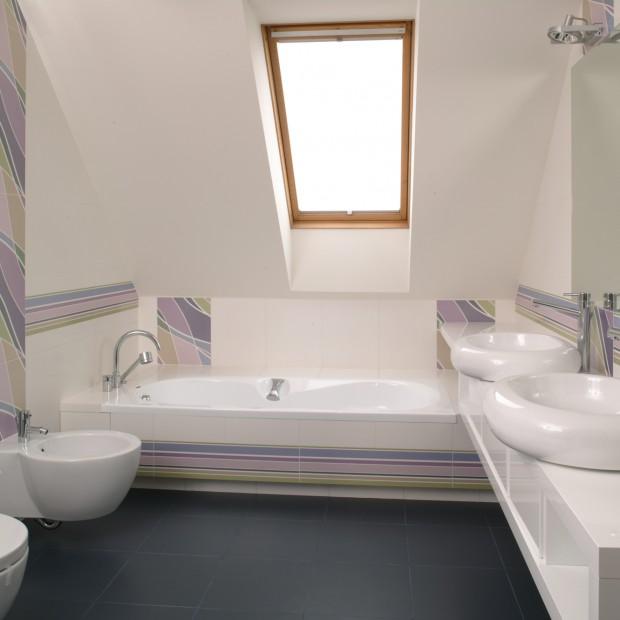 Wanna na poddaszu: łazienka dla dzieci