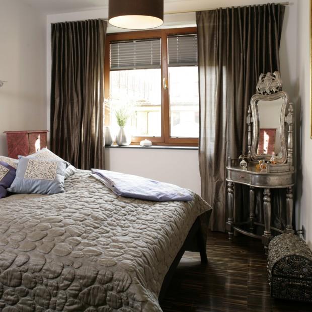 Sypialnia z indyjskim akcentem