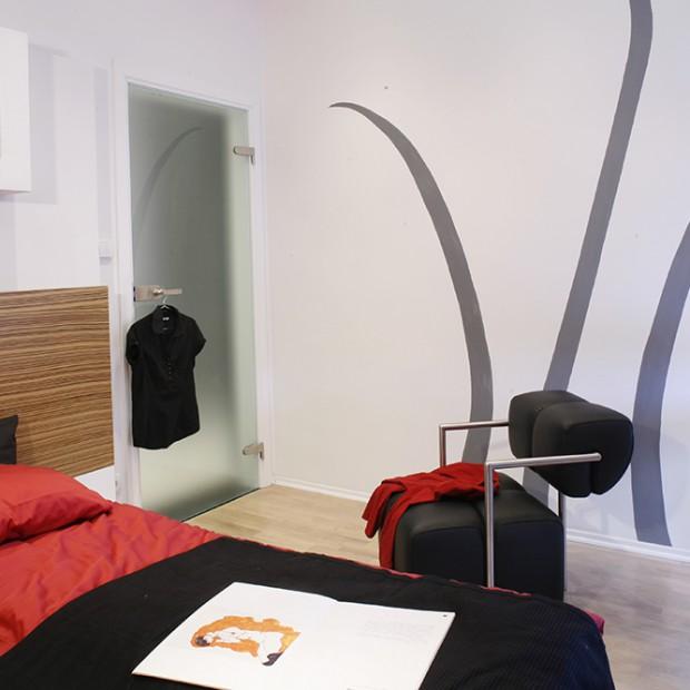 Minimalistyczna sypialnia. W japońskim stylu