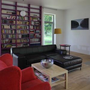 Spora część mebli w domu malarza pochodzi ze sklepu IKEA: sofa, lampy, stolik kawowy etc. Fot. Tomek Markowski.