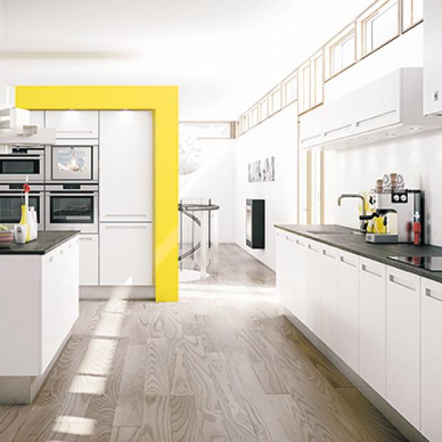 Śnieżny minimalizm w kuchni