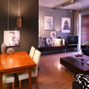 Większość mebli i rozwiązań praktycznych w mieszkaniu wykonano według autorskich pomysłów gospodarzy. Dzięki temu mogli oni zrealizować  niespotykane na co dzień koncepcje. Fot. Bartosz Jarosz.