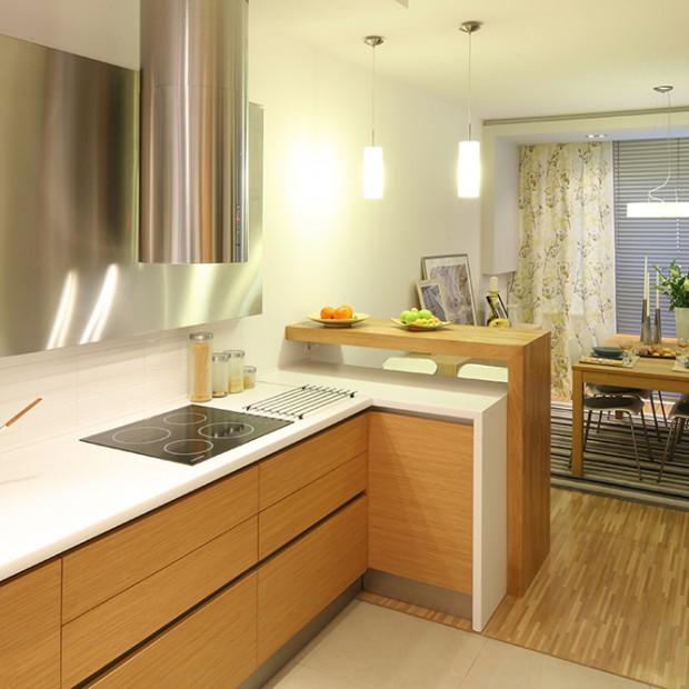 Miodowe fronty w kuchni: dodaj jej ciepła
