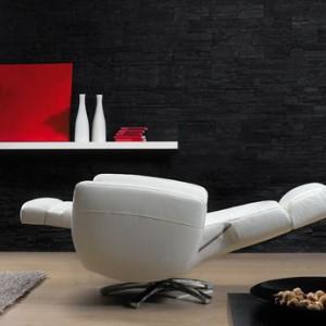 PRZESTRZEŃ PRACY. Fotel Twist/Rom. Fotel Twist - nowoczesny fotel z unikalnym mechanizmem, umożliwiającym rozłożenie go do 145 stopni. Produkt bardzo wygodny, wykonany z wykorzystaniem wysokoelastycznej piany Bultex i sprężyn Nosaq. Dostępna tapicerka: tkaniny, skóra naturalna, skóra ekologiczna. Dystrybutor: Xofa Sp. z o.o., www.rom.be