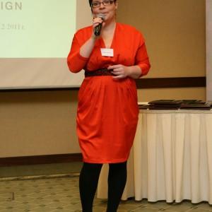 Gości przywitała redaktor naczelna Dobrze Mieszkaj, Justyna Łotowska. Fot. Bartosz Jarosz.