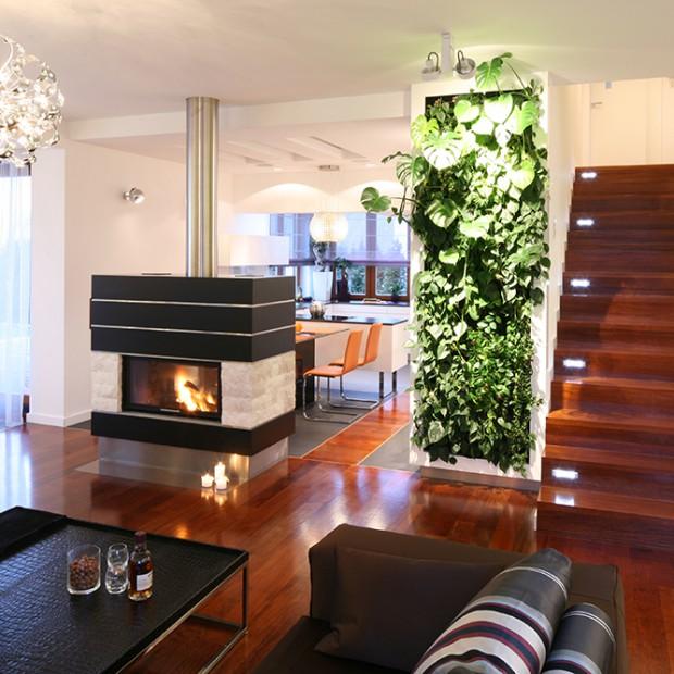 Zielona ściana w domu? Zobacz wnętrze blisko natury