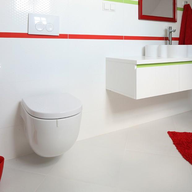 Łazienka dla dziecka: kolorowo i wygodnie