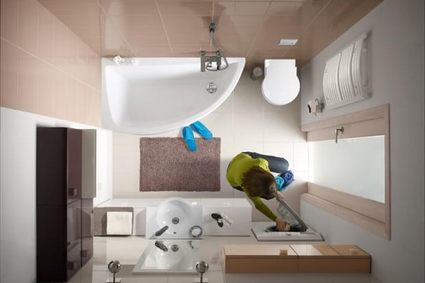 Dopasowanie kształtu wanny do formatu i kubatury łazienki nie jest proste. Szczególnie starannie należy przemyśleć wybór, jeżeli w łazience chcemy zamontować także kabinę prysznicową.
