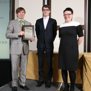 Markę Kermi nagrodzono za kabinę ATEA. Nagrodę odebrał Kazimierz Golemiec.