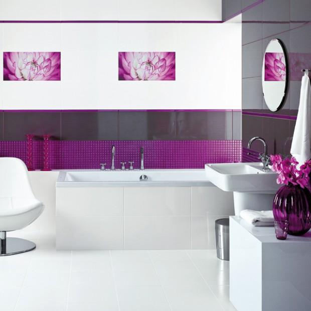Pomysły na szklaną mozaikę w łazience