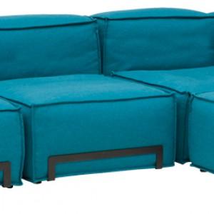 Sofa modułowa Terra (proj. Elisabeth Ellefsen) dostępna w bogatej kolorystyce. Wym. 100x100x62 cm, wys. siedziska 34 cm. Cena: od ok. 1.762,99 zł, Softline, Akademia Architektury.