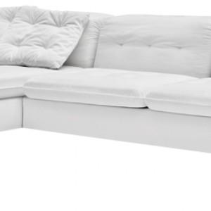 Modularna sofa Grace Romantic (proj. Stefano Cavazzana) o niskim siedzisku i poduchach oparciowych oraz z wąskimi podłokietnikami. Dostępna w tkaninach i w skórze w różnych kolorach. Cena: od ok. 16.300 zł, Calligaris.